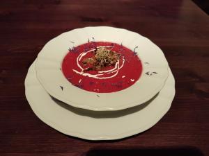 Borši püreesupp rebitud veiselihaga